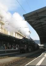 Die mächtige SNCF 241-A-65 zu Besuch in Lausanne(Schweiz) Originalbild (8.03.2008)
